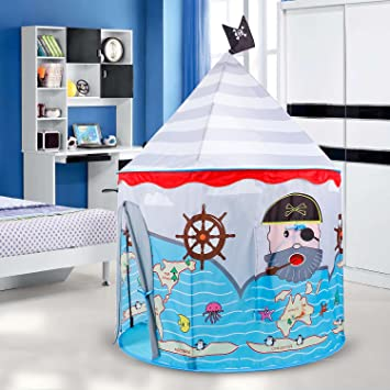 Buringer Pop UP Pirate Play Tent For Kids Playhouse For ChildrenBest Brithday Gift For Boys Indoor & Amazon.com: Buringer Pop UP Pirate Play Tent For Kids Playhouse ...