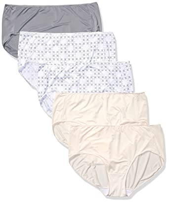 73313cba62e929 Just My Size Women's Smooth Stretch Microfiber Brief 5-Pack at Amazon  Women's Clothing store: