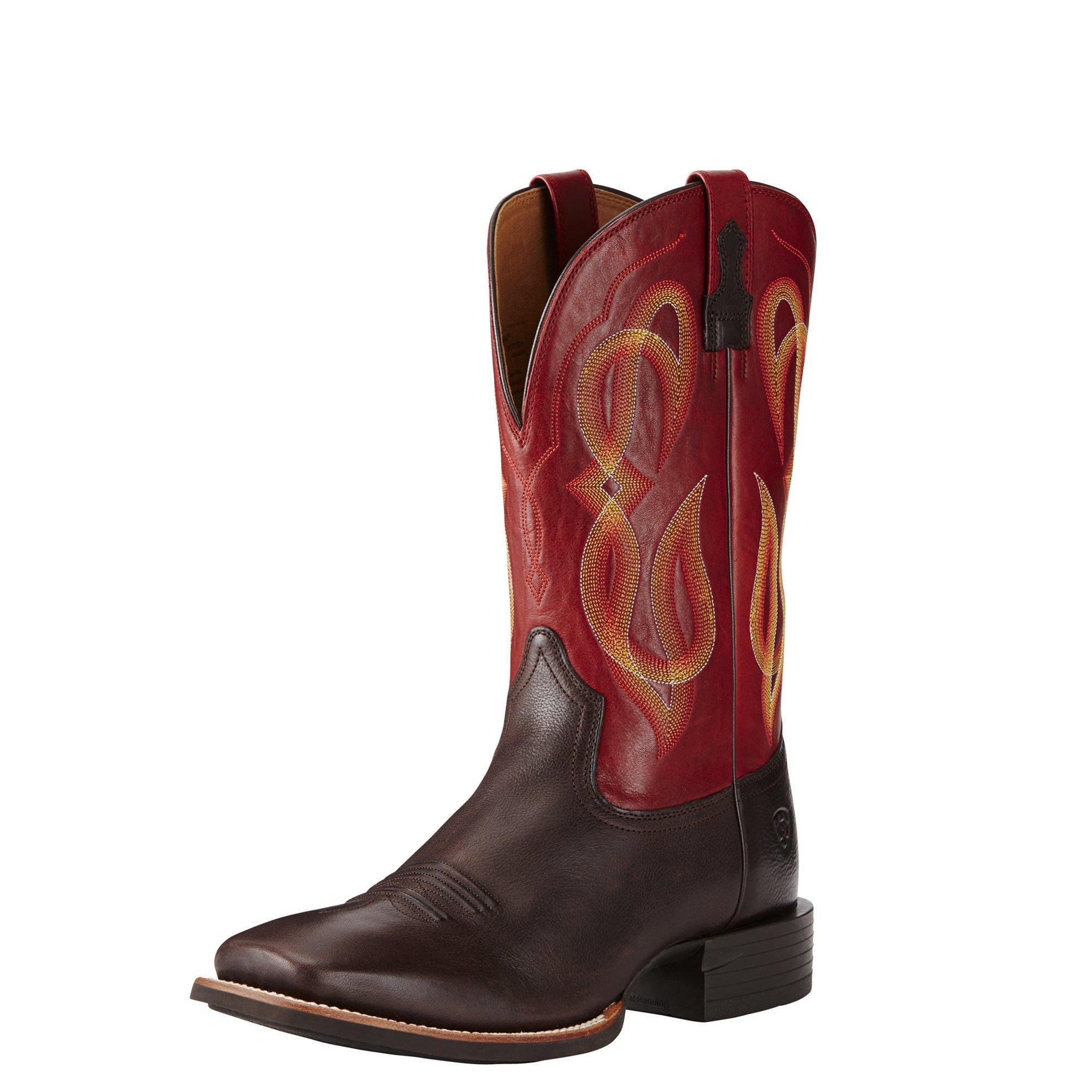 Ariat Men's Quantum Brander Western Cowboy Boot, Cowboy Coffee, 8.5 D US