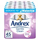 Andrex Gentle Clean Toilet Tissue, Donate to WaterAid - 45 Toilet Rolls