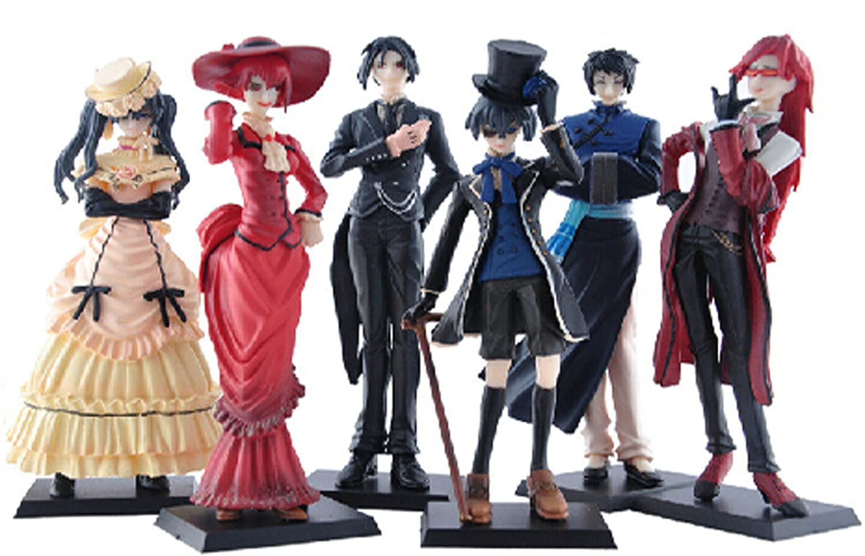 Black Butler 6 Anime Kuroshitsuji Characters Figure Set  From JAPAN