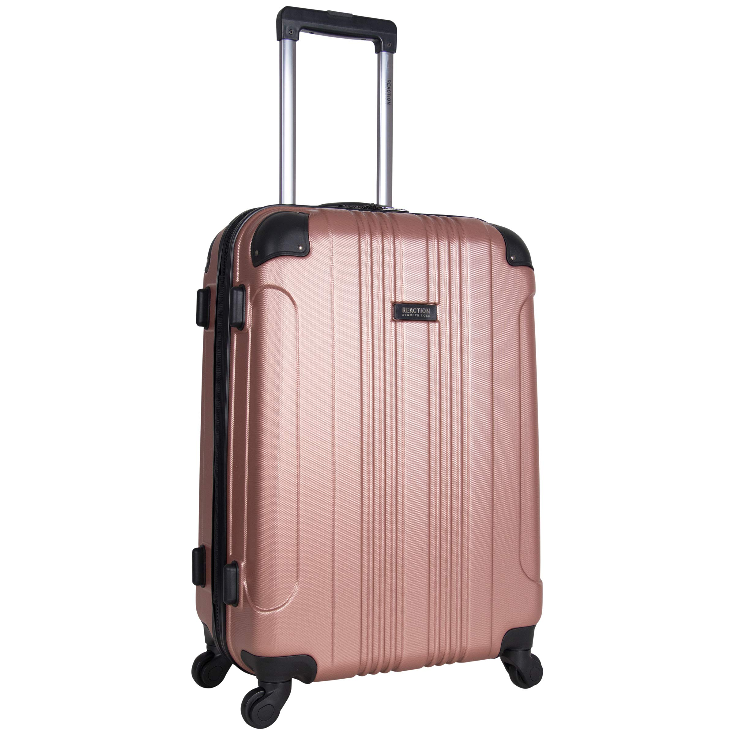Kenneth Cole Reaction Out Of Bounds 24-Inch Check-Size Lightweight Durable Hardshell 4-Wheel Spinner Travel Luggage, Rose Gold by Kenneth Cole REACTION