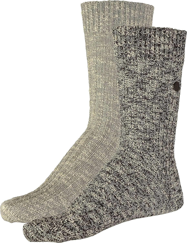 Birkenstock X-Mas Box - Pack de 2 pares de calcetines para hombre, algodón, color negro, talla 41/45 EU: Amazon.es: Zapatos y complementos