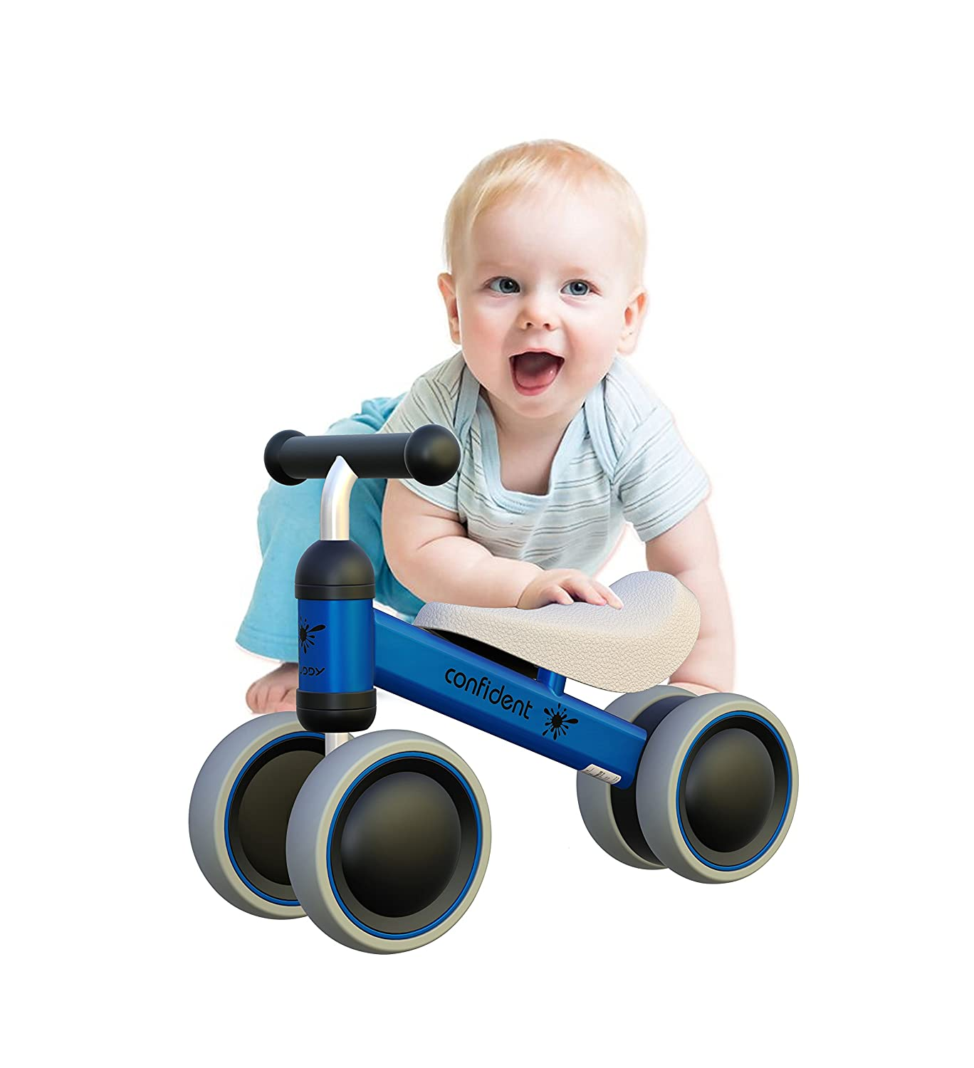YGJT Baby Balance Bikes Bicycle Baby Walker Toys Rides for 1 Year Boys Girls 10 Months-24 Months Baby's First Bike First Birthday Gift White China