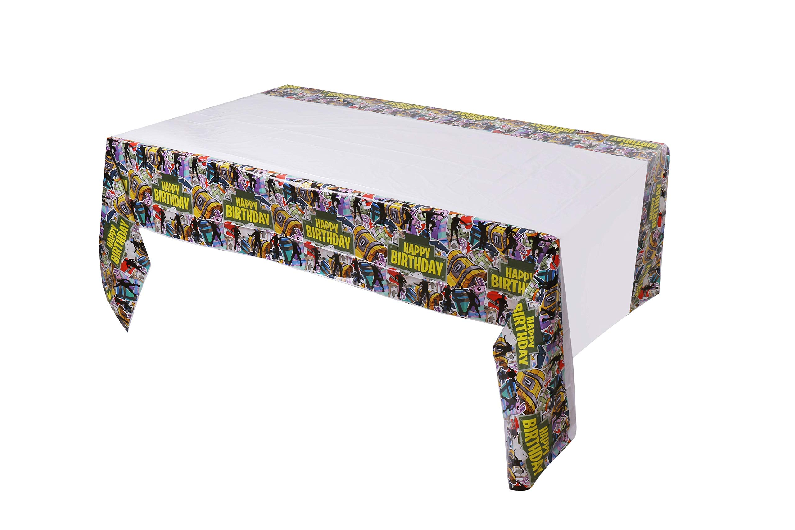 Fort Tablecloth Tablecover for Gaming Party Supplies [3 PC Set] by PartyRoad