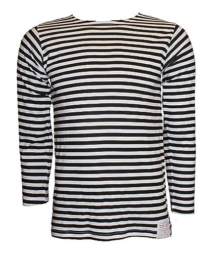 Camiseta de manga corta con diseño de rayas estilo marinero