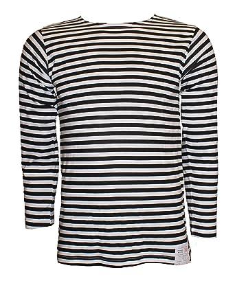 73db40fe10 Russian Telnyashka Striped Sailors's / Navy's T-Shirt: Amazon.co.uk ...