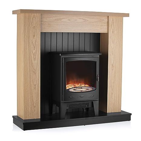 Warmlite Wl45043 Cambridge Electric Fireplace Suite Adjustable