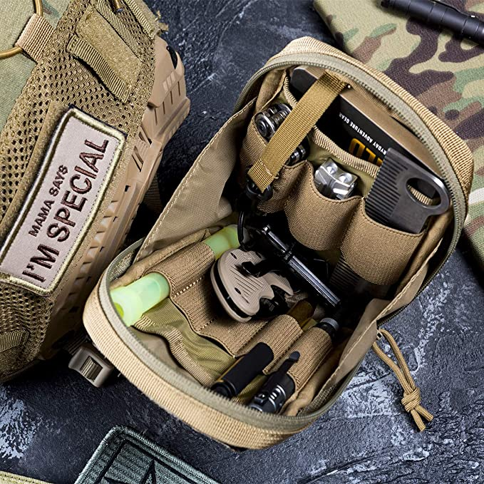 Tactical MOLLE Pouch Vertical Utility EDC Organizer 6.5