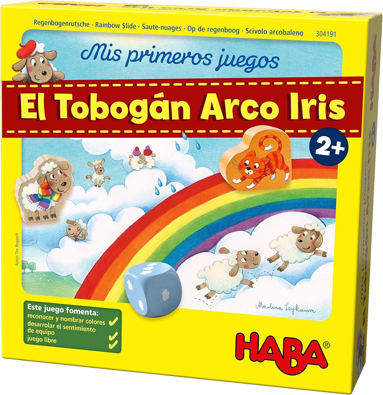 HABA Mesa, Mis Primeros Juegos. El Tobogán Arco Iris, (Habermass H304191): Amazon.es: Juguetes y juegos