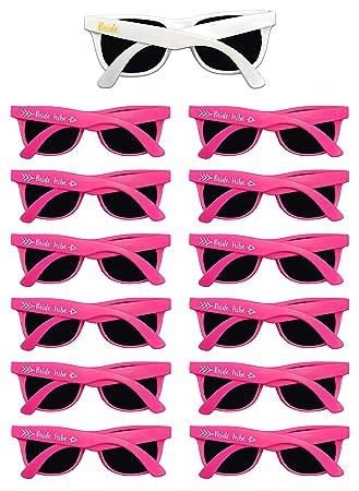 810eef9ddee0 Amazon.com: Bachelorette Party Sunglasses – 12 Pack Bride Tribe ...
