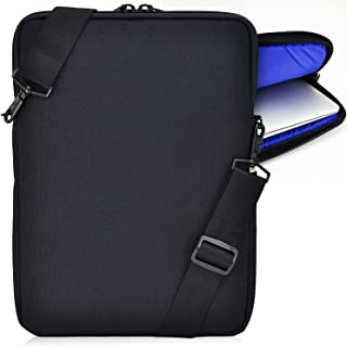 "product image for Turtleback Universal Laptop and Chromebook Pouch Bag with Shoulder Strap - Fits Devices up to 11"" Inch - (Black/Blue), Made in USA"