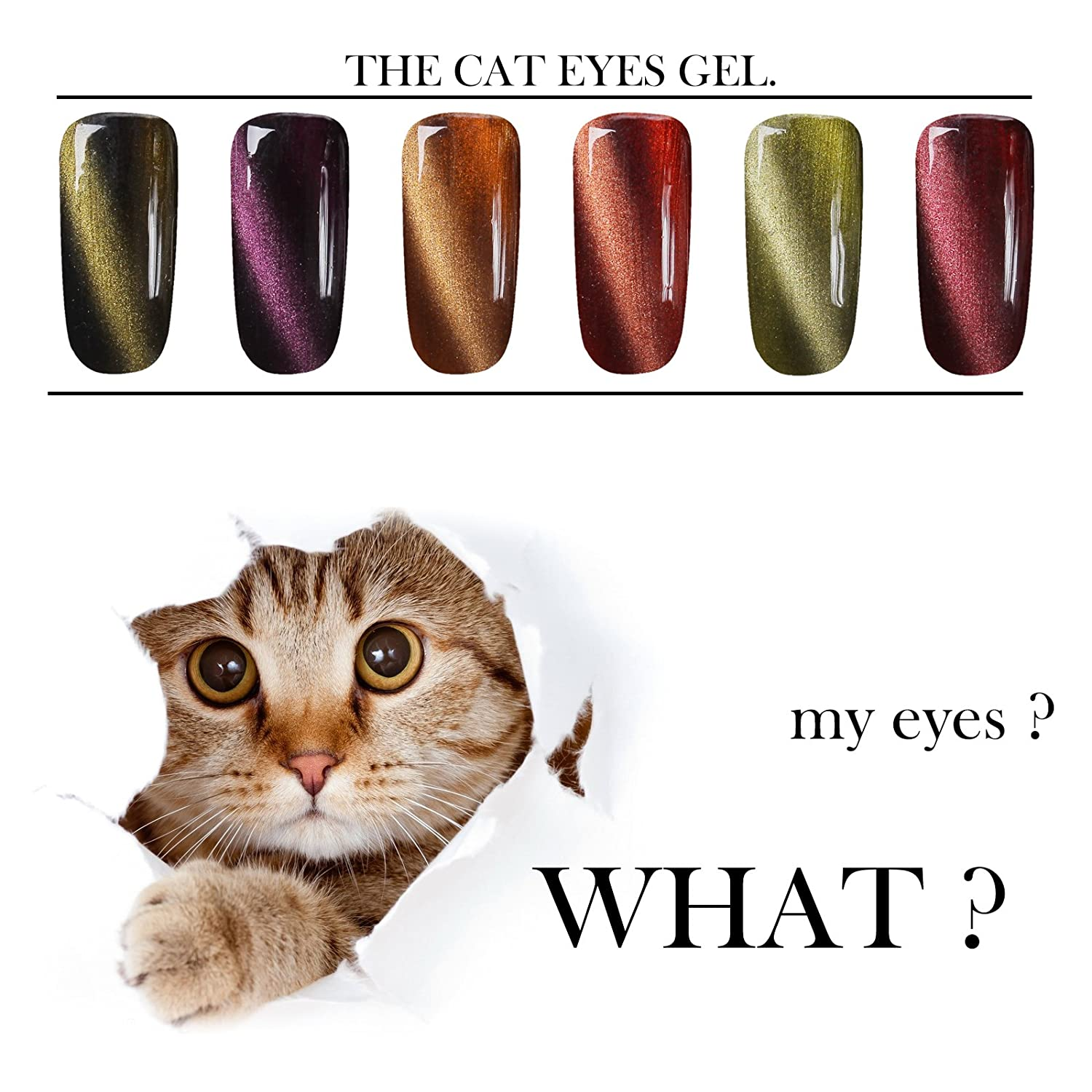Perfect Summer Gel Nail Polish 10ml Magnetic 3D Cat Eye UV LED Gel ...