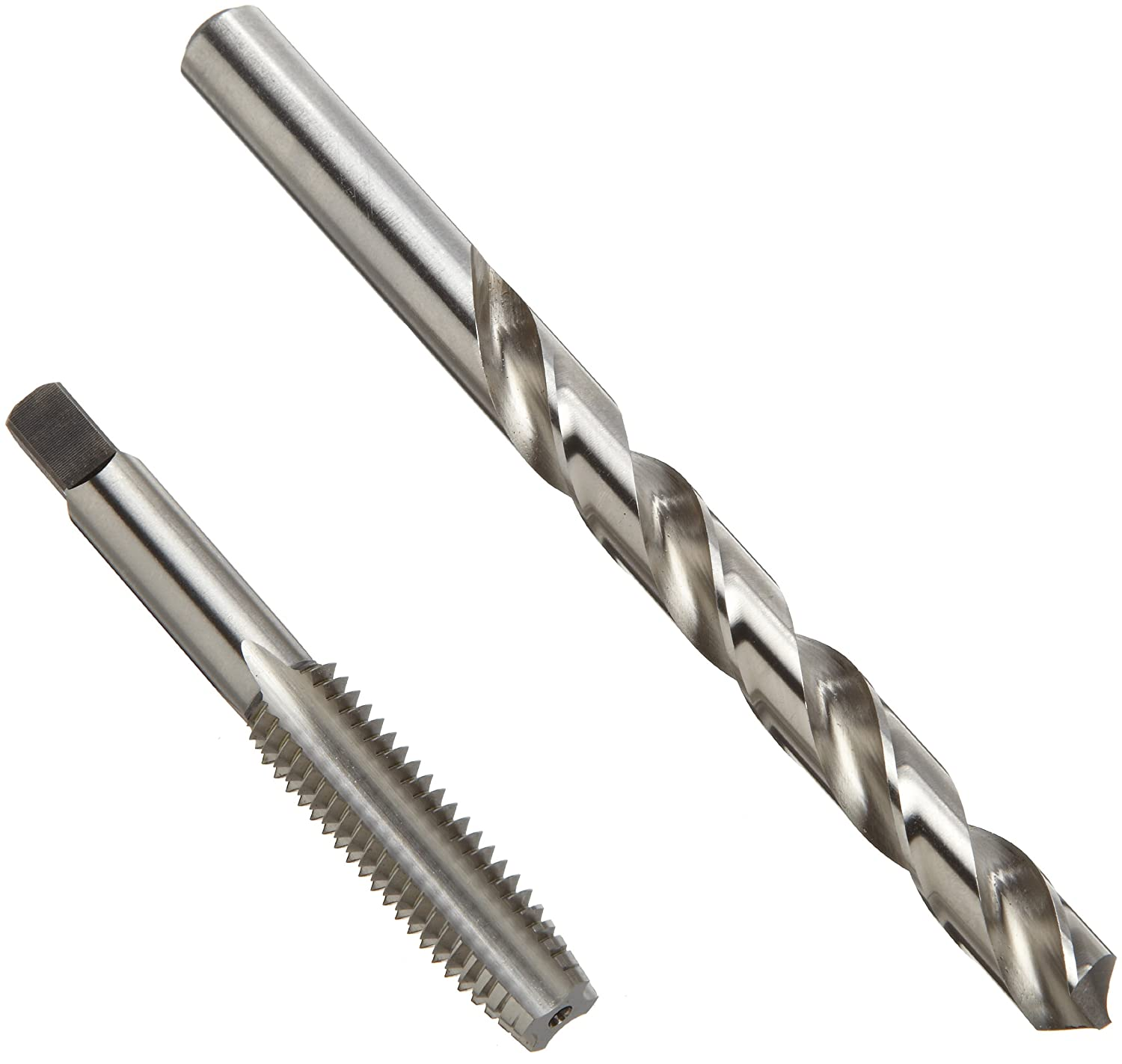 36-piece #6-32 to 1//2-20 Tap Sizes Letter Inch Wire Size Bright UNC//UNF Uncoated Chicago Latrobe HT36 High-Speed Steel Jobber Length Drill Bit and Hand Tap Set with Metal Case Finish