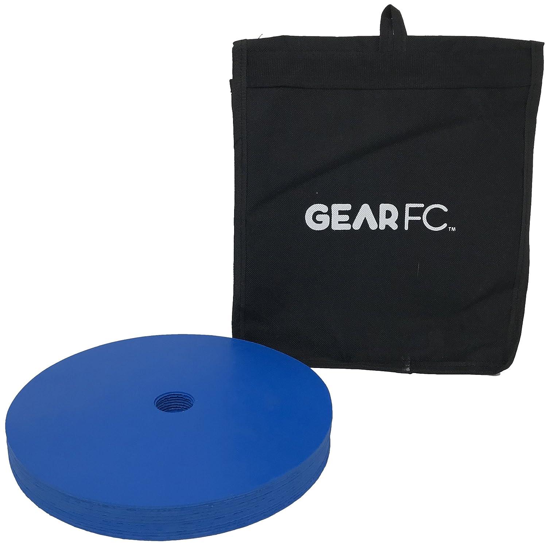 スポットマーカーforスポーツ含むサッカーとFootball機敏性トレーニング B07B9PW3ZPブルー