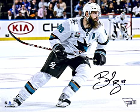 timeless design ddce7 9c7b2 Brent Burns San Jose Sharks Autographed 8