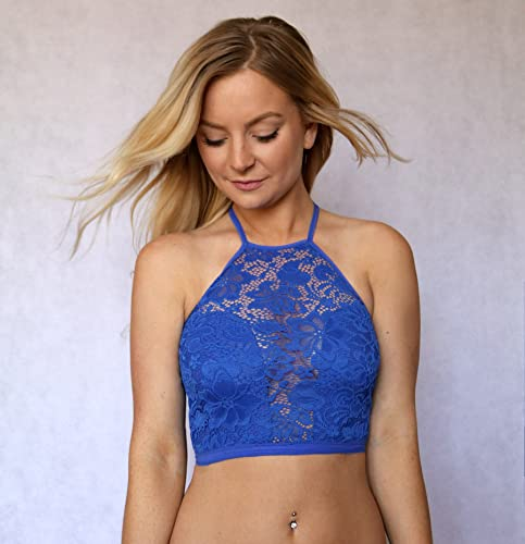 956e72d18e Amazon.com  Blue Lace Bralette