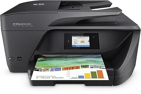HP Officejet Pro 6960 - Impresora multifunción de inyección de tinta, color negro