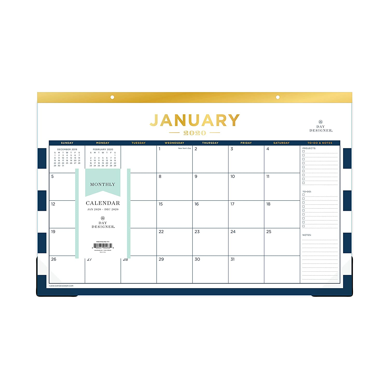 picture regarding Daydesigner titled Working day Designer for Blue Sky 2019 Month-to-month Table Pad Calendar, 17\