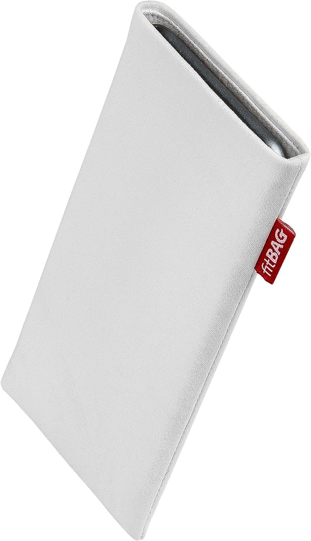con Limpieza de Pantalla Funda de Tela Azul con Forro de Microfibra Interior para Xiaomi Redmi Note 9S fitBAG Jive Azul Funda para m/óvil