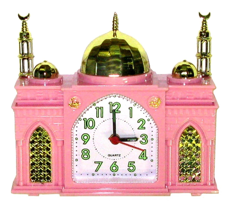 R/éveille-matin Horloge Musulman Rose sonne Azan Appel Islamique /à la Pri/ère en forme comme une Mosqu/ée