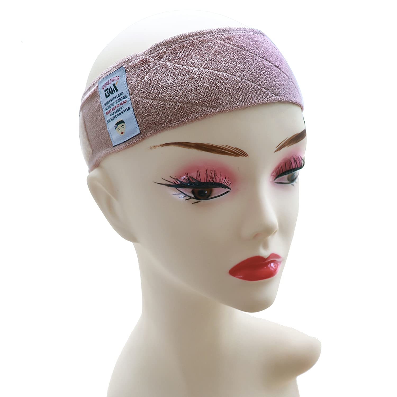 GEX Beauty Flexible Velvet Wig Grip Scarf Head Hair Band Wig Band Adjustable Fastern (Beige) GEX Worldwide