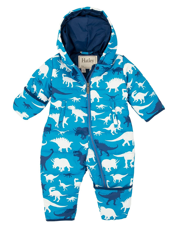 Hatley Baby-Jungen Schneeanzug Puffer Bundler-Silhouette Dino