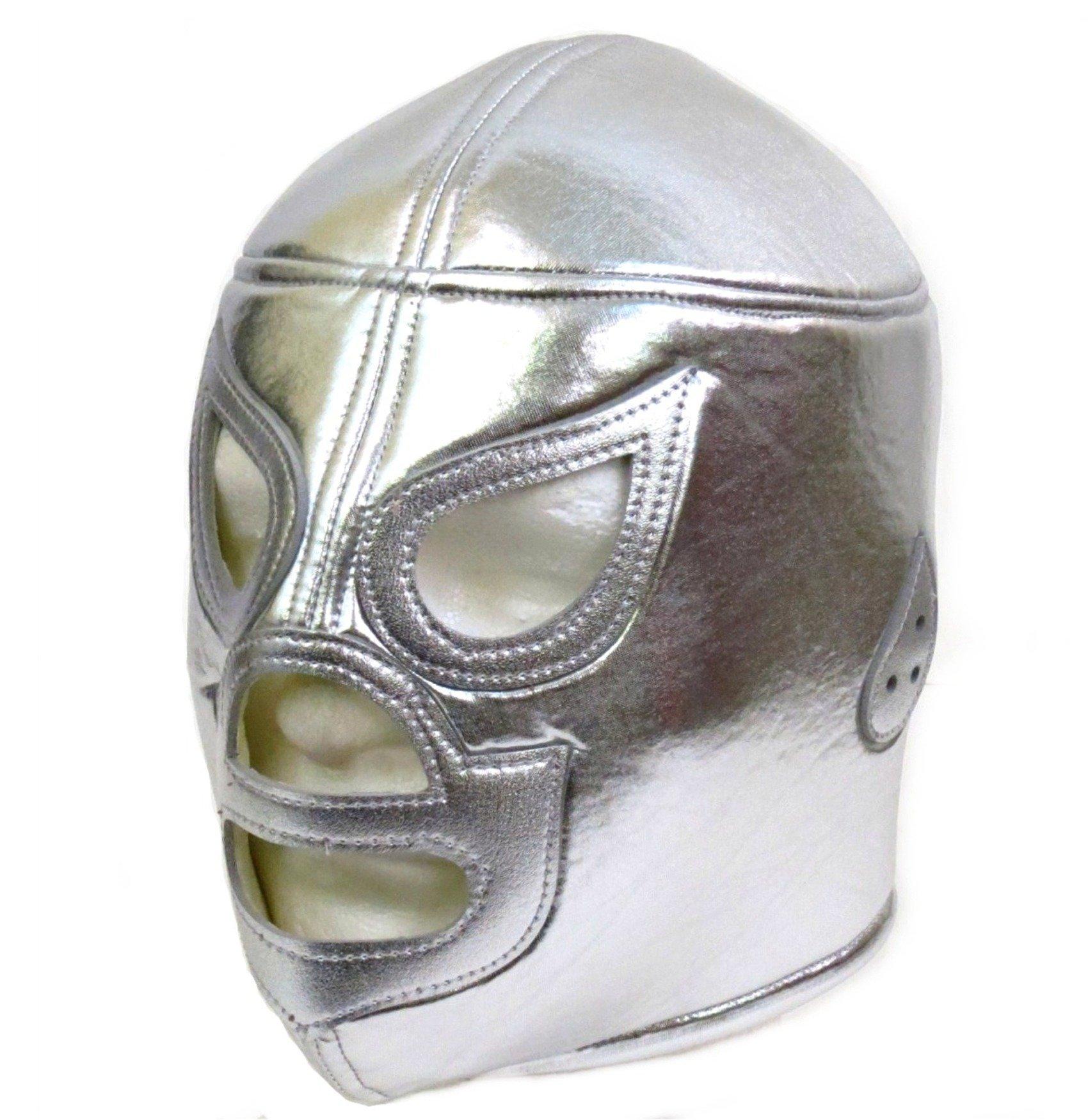 EL SANTO Adult Lucha Libre Wrestling Mask (pro-fit) Costume Wear - Silver