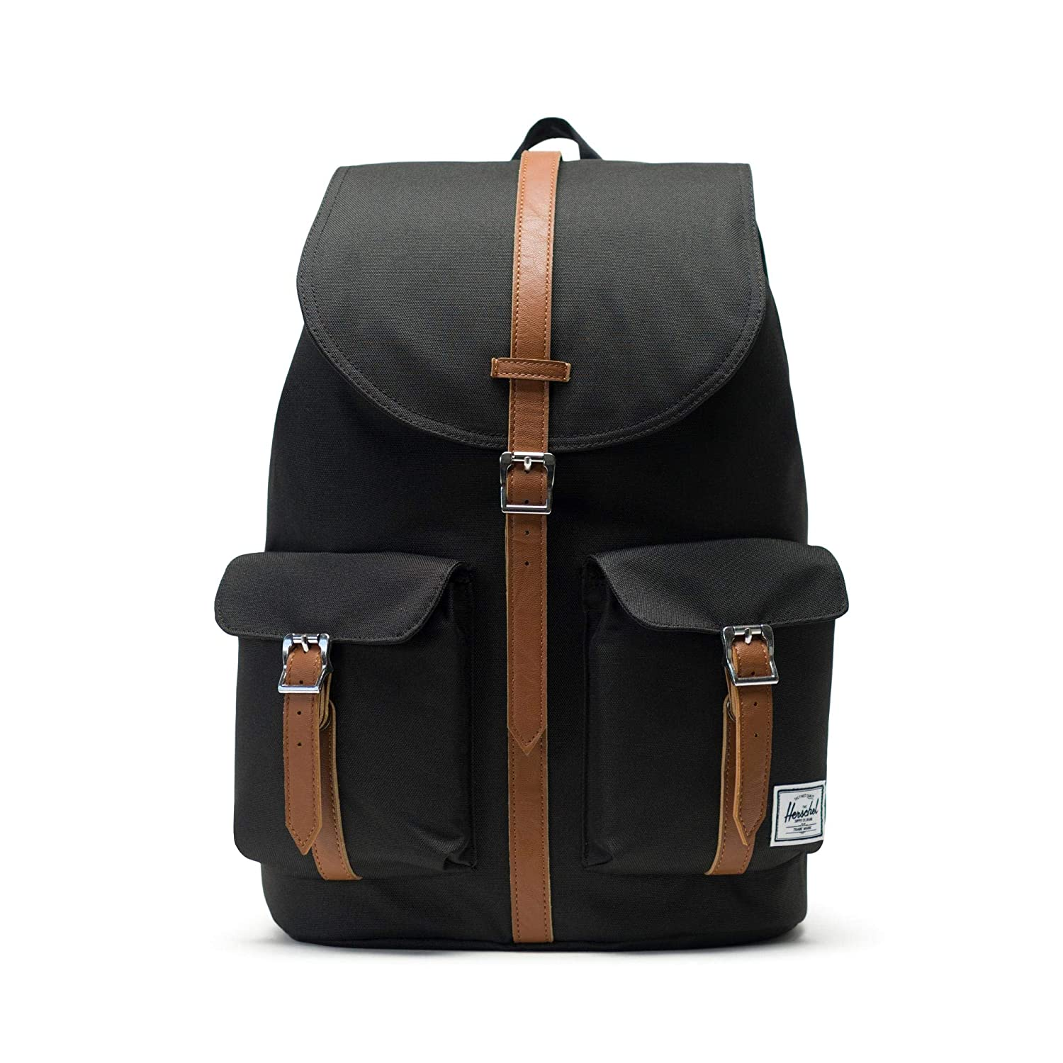 Herschel Dawson Backpack - Black Tan Synthetic Leather