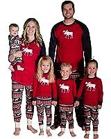 Christmas Family Elk Matching Pajamas Mom Dad Kids Sleepwear Set Deer Nightwear