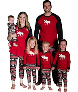 b6fee5fff6 Imixshopps Christmas Family Elk Matching Sleepwear Deer Pajamas Set  Nightwear