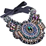 Holylove Colorful Stunning Statement Necklace with Gift Box for Formal Usual Night Out Party Event