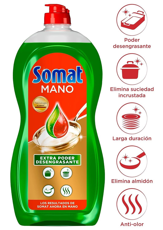 Somat Mano Poder Verde Lavavajillas - Paquete de 12 x 710 gr ...