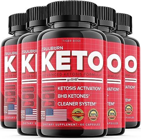 (5 Pack) Truuburn Keto Diet Pills Truuburne with BHB Keto Truu Burn Advanced Advance Formula True Burn Tablets (300 Capsules)