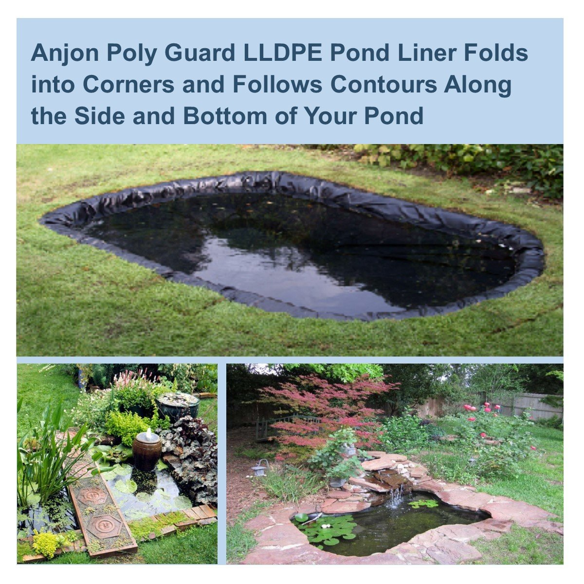 PolyGuard Liners LLDPE - 25 ft. x 40 ft. 30 Mil Pond Liner and Geo Combo