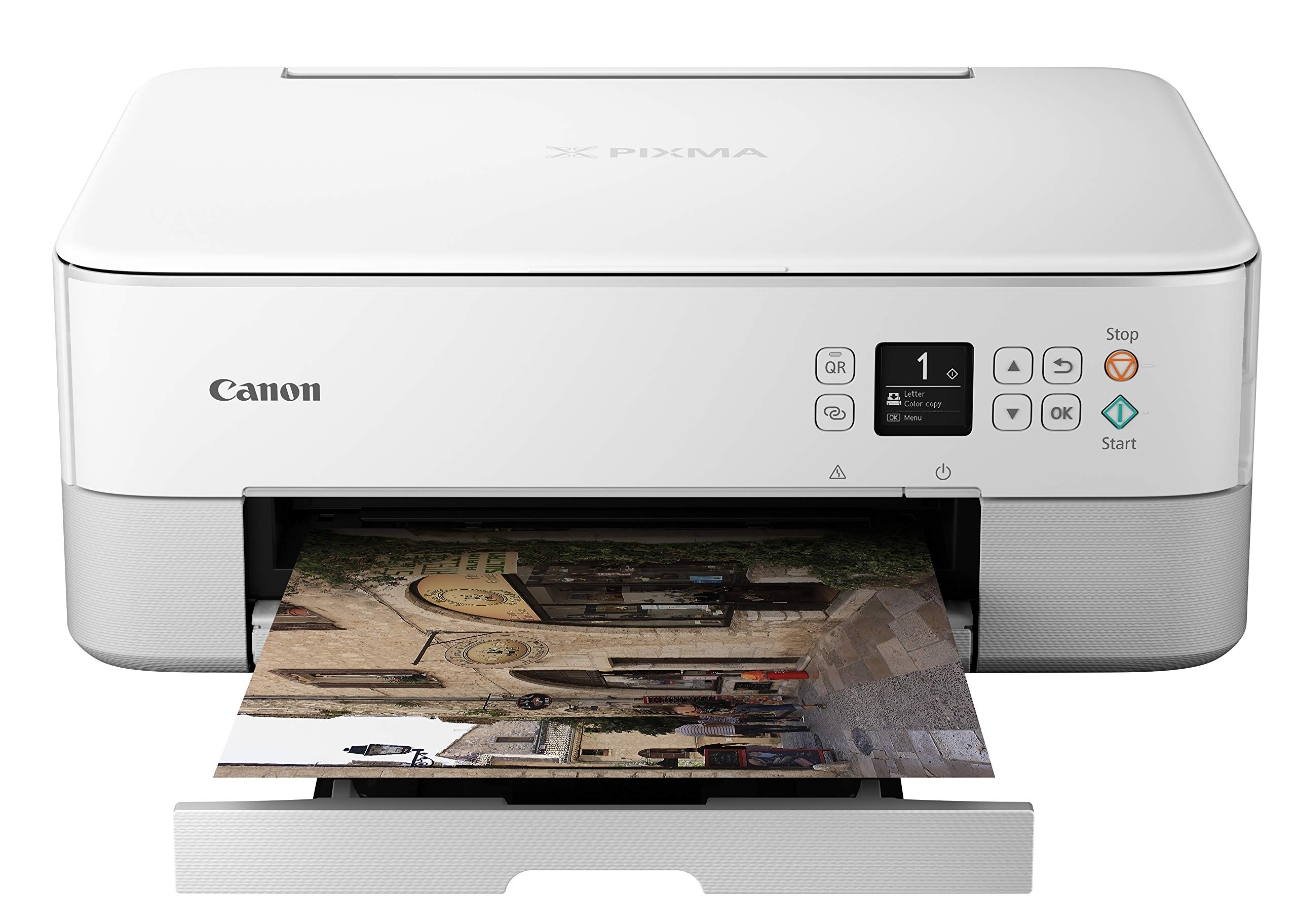 Canon Pixma TS5320 Wireless All In One Printer, Scanner, Copier with AirPrint, White by Canon