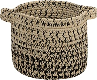 """product image for Colonial Mills Monet Ombre Basket, 12""""x12""""x10"""", Sand & Black"""