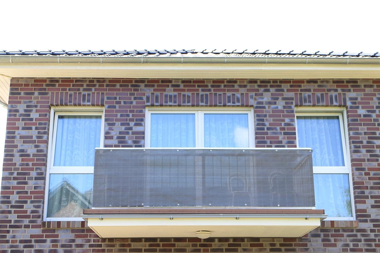 Antracite Smart decorazione per balcone, per balcone, protezione della privacy e protezione UV per balcone, giardino, camping e il tempo libero, Plastica, Anthrazit, 200x90cm Smart Deko