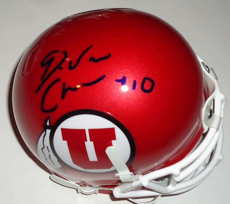 Autographed College Mini Helmets Signed Alex Smith Mini Helmet Utah Utes Riddell Speed Beckett W Auth *Wh Beckett Authentication