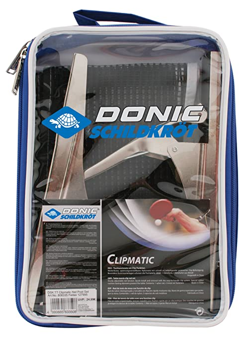 5 opinioni per Donic- Clipmatic, Rete per tavolo da ping pong, colore: Nero/Bianco