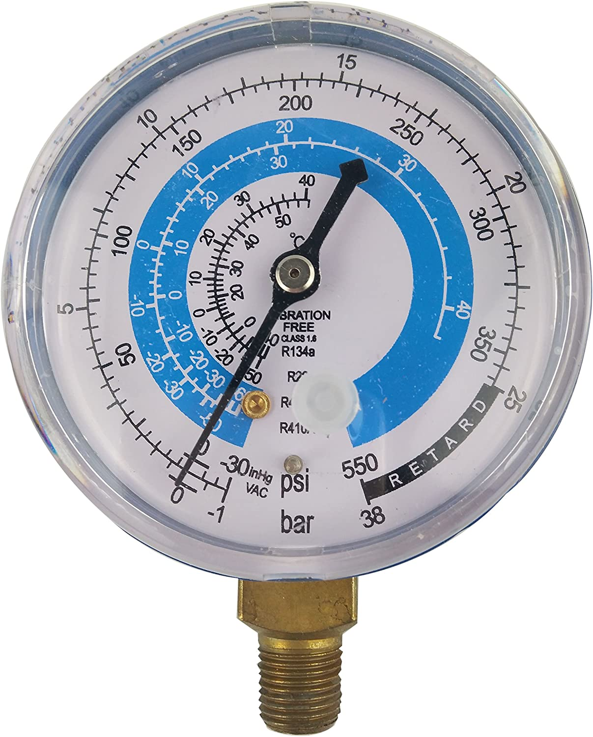 Wisepick Refrigerant Low and High Pressure Gauges for Air Conditioner R410A R404A R134A R22