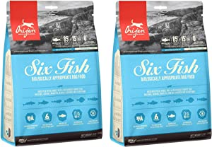 Orijen 2 Pack of Six Fish Grain-Free Dry Dog Food, 12 Ounces Each, Made in The USA