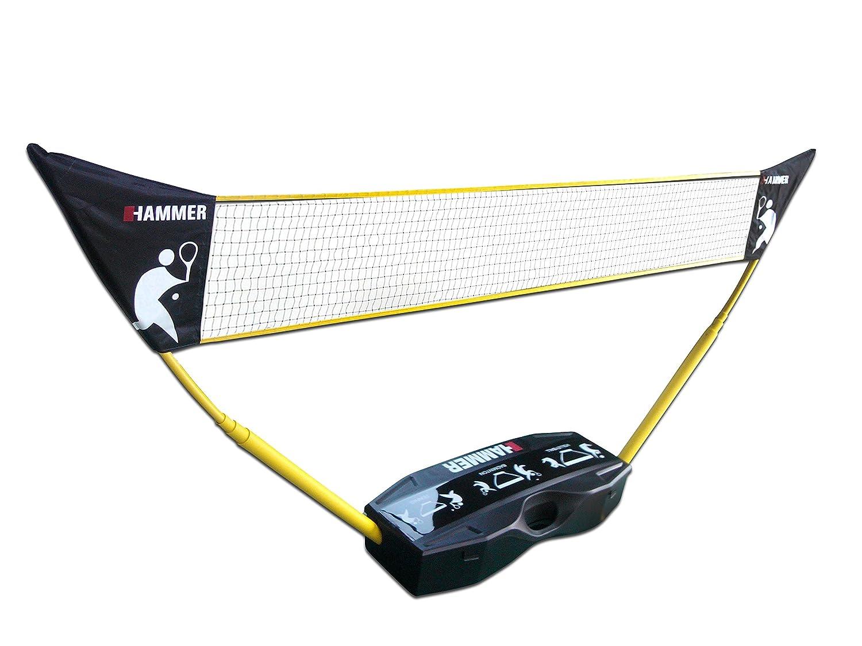HAMMER 3 in 1 Set für Volleyball, Badminton & & & Tennis, Spaß für jung und alt, mit Tragekoffer Pfostenständer, Leichter Aubau, schnell verstaut und leicht transportiert B00LB3P1TK Netze Eigenschaften 6c8311
