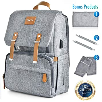 a5a9f29bf555 Amazon.com   Large Capacity Diaper Bag Backpack - Organic