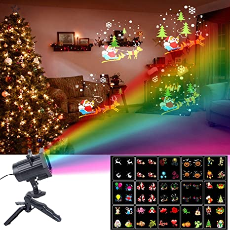 christmas lights unifun 15 patterns led projector light waterproof dynamic outdoor christmas lights spotlights decoration - Christmas Outdoor Decoration Patterns