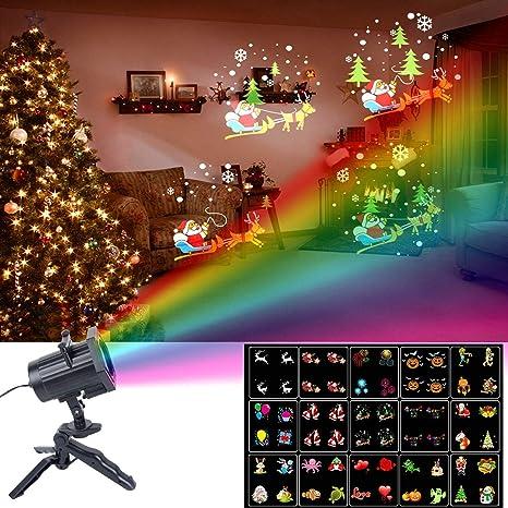 christmas lights unifun 15 patterns led projector light waterproof dynamic outdoor christmas lights spotlights decoration - Christmas Projector Outdoor