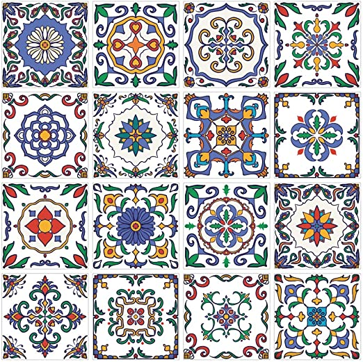 Portuguese Tile Stickers Vinyl Transfers Kitchen Custom Sizes Avaliable m5b