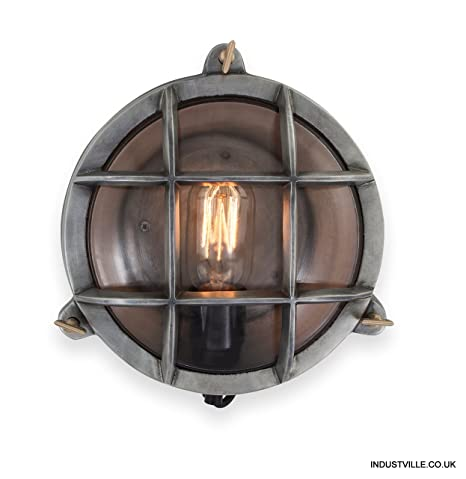 Vintage style industrial round retro bulkhead wall lightflush mount vintage style industrial round retro bulkhead wall lightflush mount aloadofball Images