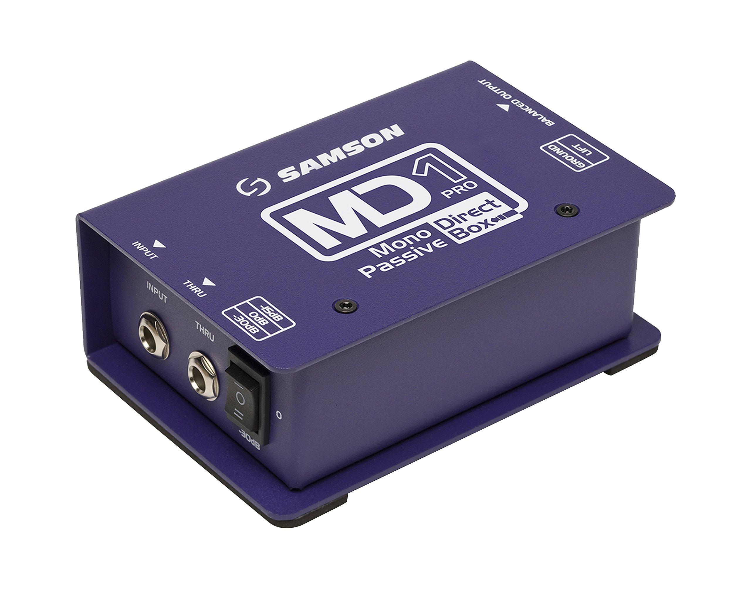 Samson MD1 Pro Professional Mono Passive Direct Box