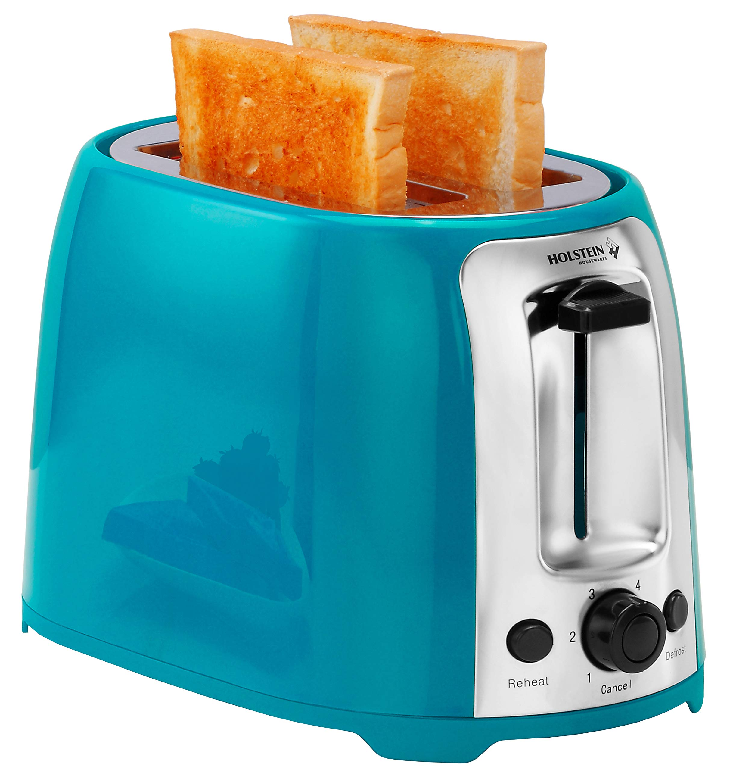 Holstein Housewares HH-09175001E 2 Slice Toaster with 7 Browning Levels, Teal by Holstein Housewares